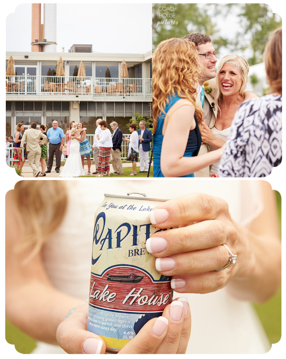 Illinois state beach resort wedding
