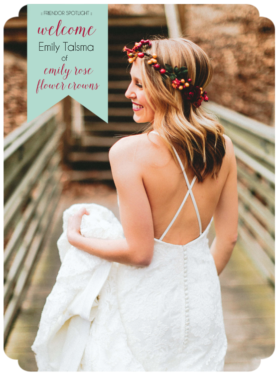 Friendor Spotlight, Community over Competition, Coach House Pictures Series, Emily Rose Flower Crowns, Chicago Florist, Green Wedding Shoes, Chicago Wedding Vendor, Coach House Pictures, Chicago Wedding Photographer, boho wedding, boho inspiration