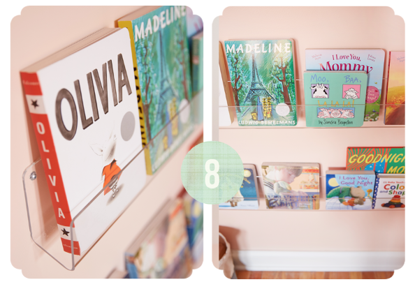 DIY nursery bookshelves