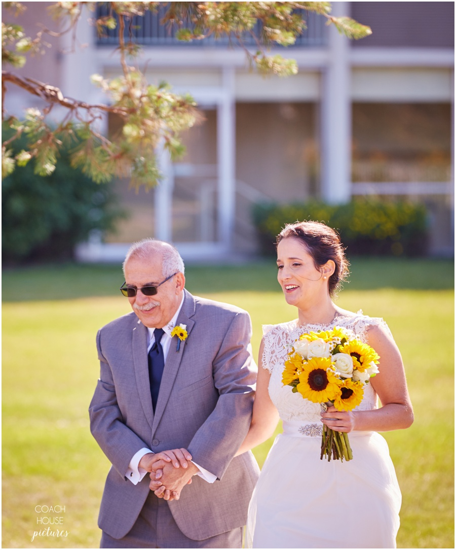 Father Daughter walk down aisle