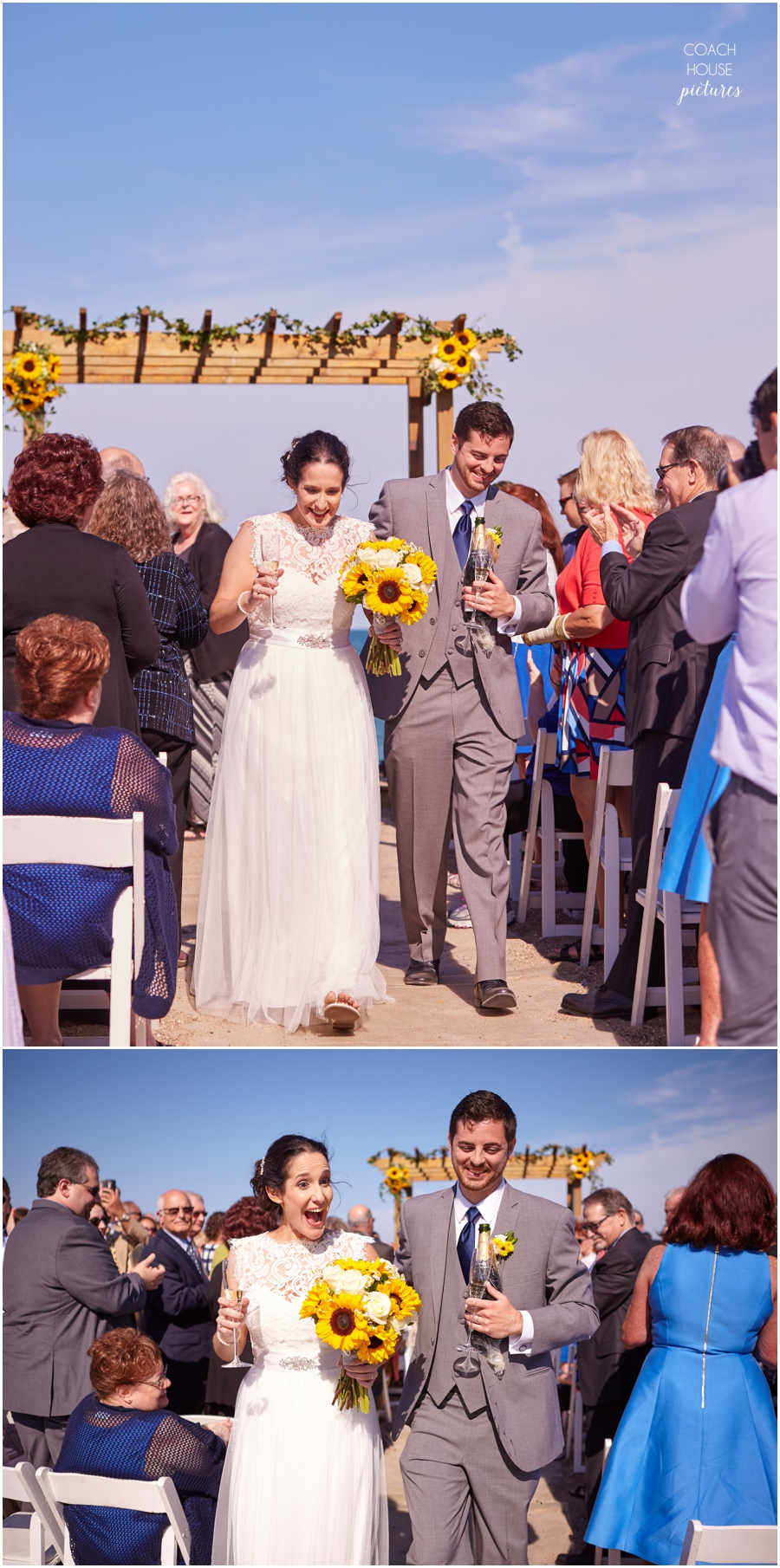 Chicago summer beach wedding